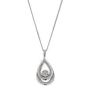 9ct white gold 0.33ct twist pendant - Product number 8931631