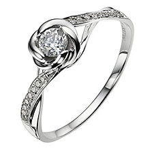 9ct white gold 0.33 carat diamond flower ring - Product number 8933146
