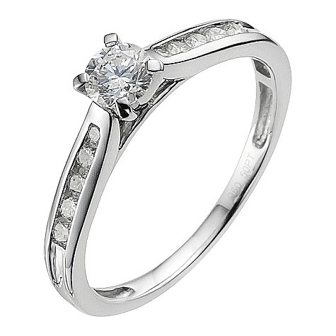 Platinum 1/2ct diamond solitaire ring