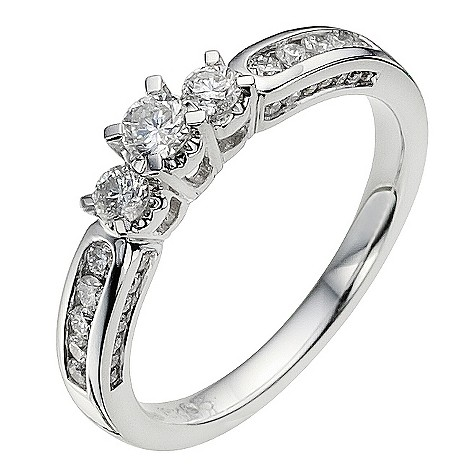 18ct white gold 1 carat diamond ring