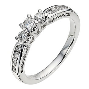 18ct white gold 1 carat diamond ring - Product number 8934320