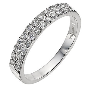 18ct white gold half carat diamond eternity ring - Product number 8934738