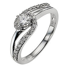 9ct white gold 0.33ct diamond ring - Product number 8934991
