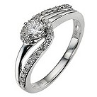 9ct white gold 1/3 carat diamond ring - Product number 8934991