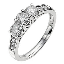 18ct white gold 1 carat diamond ring - Product number 8935394