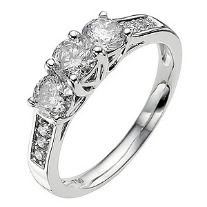 18ct white gold 3/4 carat diamond ring - Product number 8935645