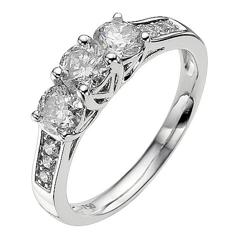 18ct white gold 3/4 carat diamond ring