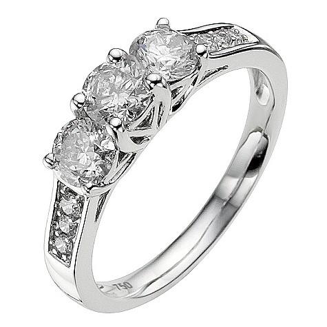 18ct white gold 3/4 carat diamond ring