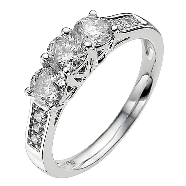 18ct white gold 0.75ct diamond ring - Product number 8935645
