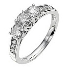18ct white gold 1/2 carat diamond ring - Product number 8935785