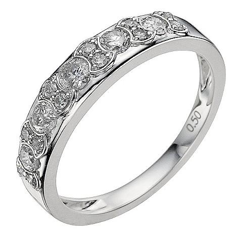 18ct white gold half carat diamond eternity ring
