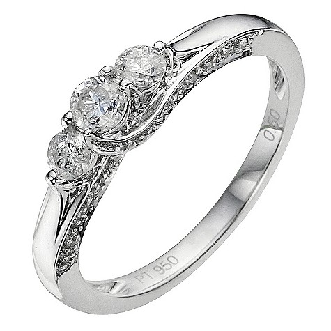 Platinum 1 carat diamond ring