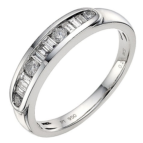 Platinum 1/4 carat diamond eternity ring