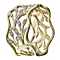9ct yellow gold diamond filigree leaf ring - Product number 8937761