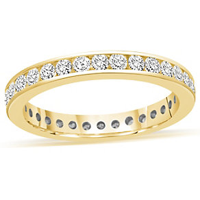 18ct yellow gold channel set 1 carat diamond eternity ring - Product number 8938296