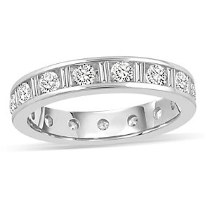 18ct white gold 1 0.50ct diamond eternity ring - Product number 8938822