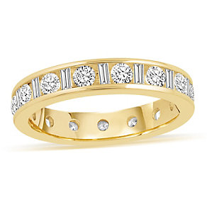 18ct yellow gold 1 0.50ct diamond eternity ring - Product number 8938962