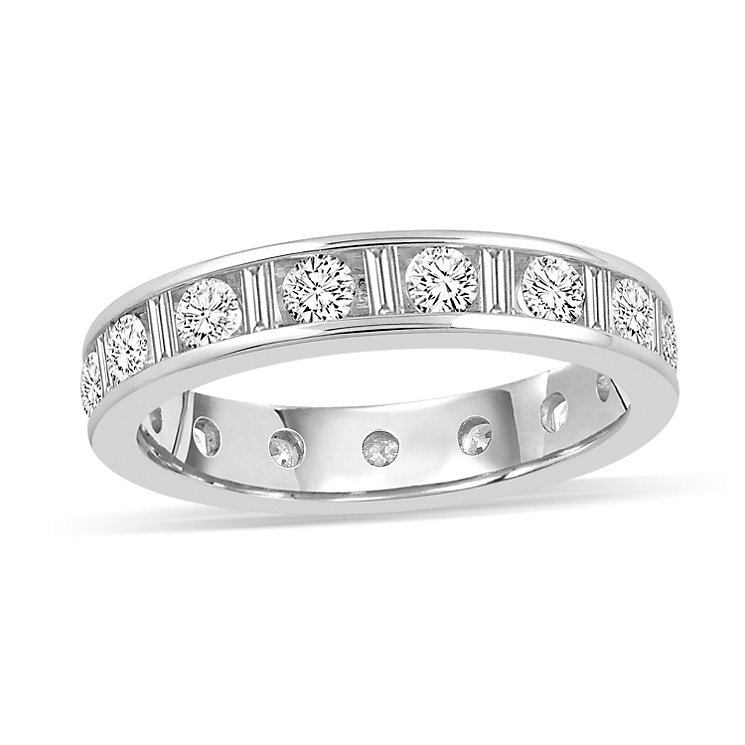 Platinum 1.50 carat diamond eternity ring - Product number 8939098