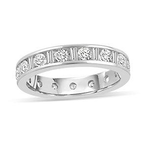 Platinum 1.50 carat diamond eternity ring - Product number 8939098