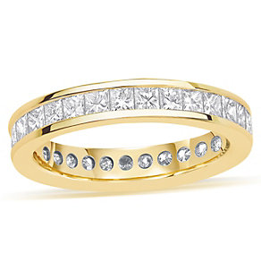 18ct yellow gold 2 carat diamond eternity ring - Product number 8939357