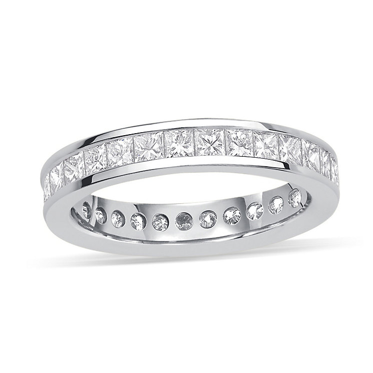 Platinum 2 carat diamond eternity ring - Product number 8939497