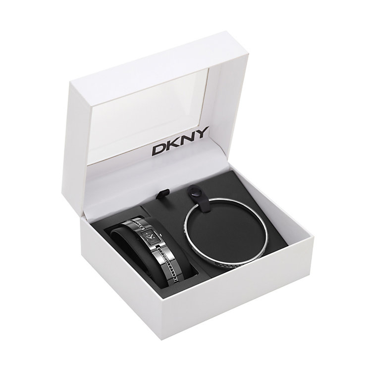 DKNY ladies' stainless steel bracelet watch & bangle set - Product number 8939810