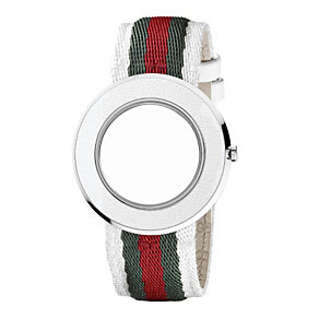 Gucci U-Play medium ladies' interchangeable white strap - Product number 8940436