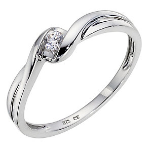 9ct White Gold Cubic Zirconia Ring - Product number 8941971