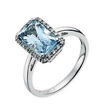 Silver Blue Topaz & CZ Ring - Product number 8945284