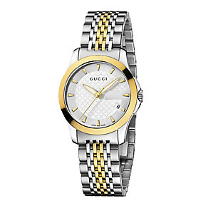 Gucci ladies' two tone bracelet watch - Product number 8946566