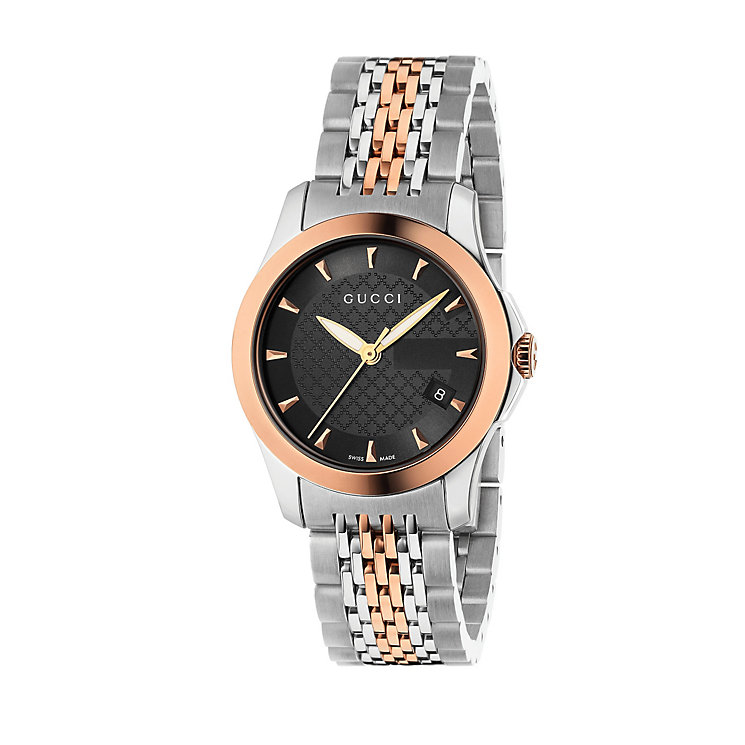 Gucci ladies' two tone bracelet watch - Product number 8946574