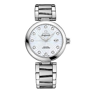 Omega Ladymatic diamond set stainless steel bracelet watch - Product number 8947058