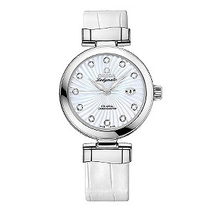 Omega Ladymatic white strap watch - Product number 8947066