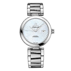 Omega Ladymatic white mother of pearl watch - Product number 8947082