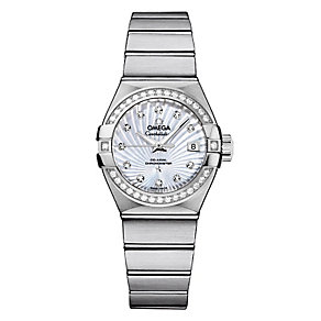 Omega Constellation ladies' stainless steel bracelet watch - Product number 8947562