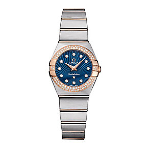 Omega Constellation ladies' two colour bracelet watch - Product number 8947597