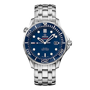 Omega Seamaster Professional men's blue dial bracelet watch - Product number 8947627