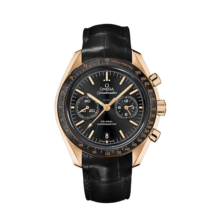 Omega Speedmaster Moonwatch men's black leather strap watch - Product number 8948119