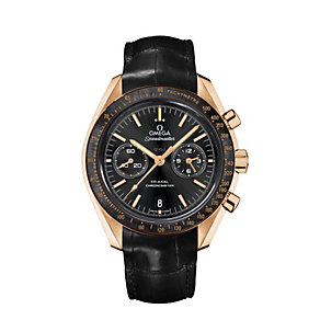 Omega Speedmaster men's black leather strap watch - Product number 8948119