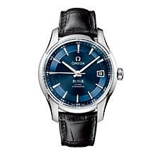 Omega De Ville Hour Vision men's black strap watch - Product number 8948267
