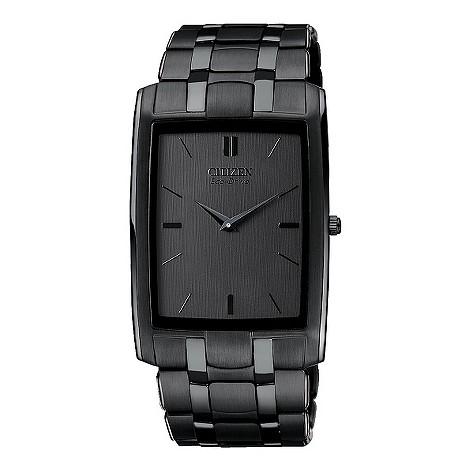 Citizen Eco-Drive black ion plated bracelet watch
