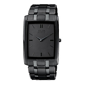 Citizen Eco-Drive black ion plated bracelet watch - Product number 8948372
