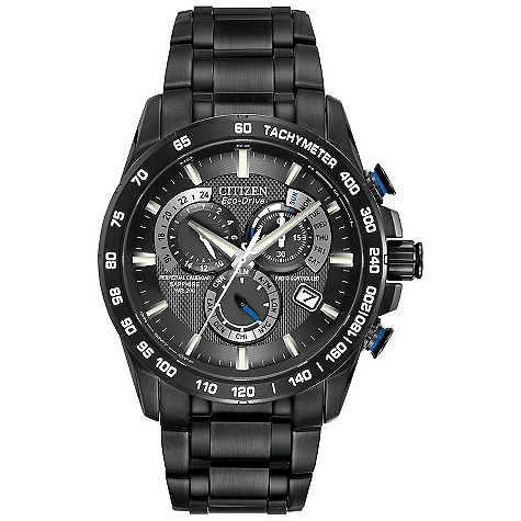 Citizen Eco-Drive black ion plated bracelet watch