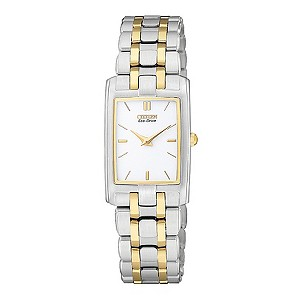 Citizen Eco-Drive ladies' two colour bracelet watch - Product number 8948593