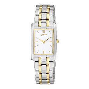 Citizen Eco-Drive ladies' two colour bracelet watch - Product number 8948593