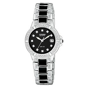 Citizen Eco-Drive black ceramic & stainless steel watch - Product number 8948623