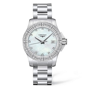 Longines ladies' stainless steel & diamond bracelet watch - Product number 8950245
