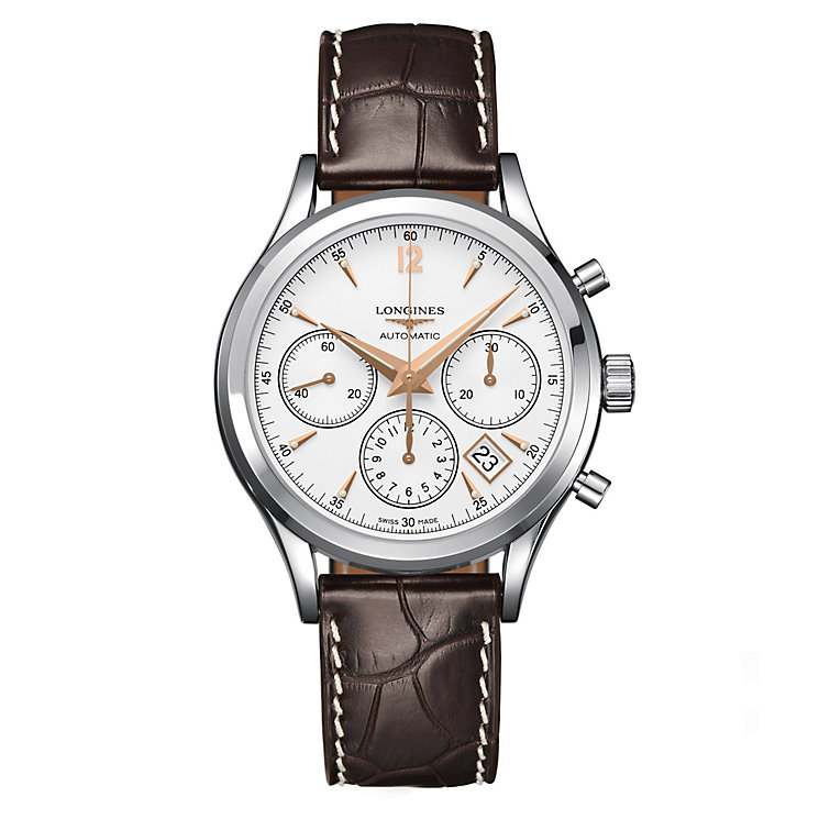 Longines men's stainless steel strap watch - Product number 8950466