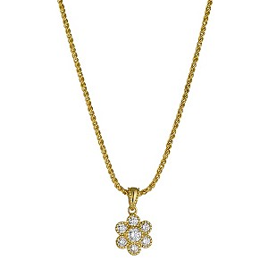 Sattva 22ct Yellow Gold 1/2 Carat Pendant Necklace
