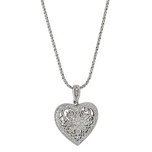 Sattva 18ct White Gold 0.33 Carat Diamond Pendant Necklace